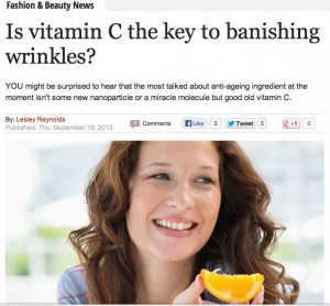 Daily Express beauty news feature on Vitamin C skincare